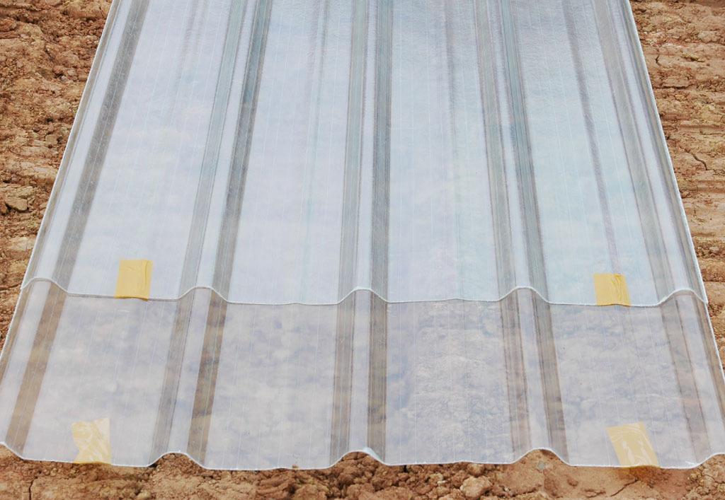FRP fiber glass sheet for plastic exterior wall panel