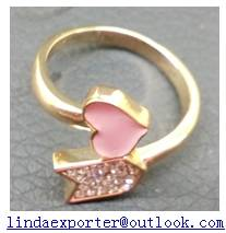 fashion alloy gold plating AAA CZ stone ring