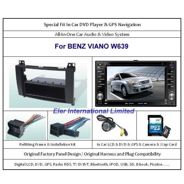 BENZ VIANO W639 2004-2010 Car DVD Player GPS Navi / Original Factory  Panel / Camera / Map Card
