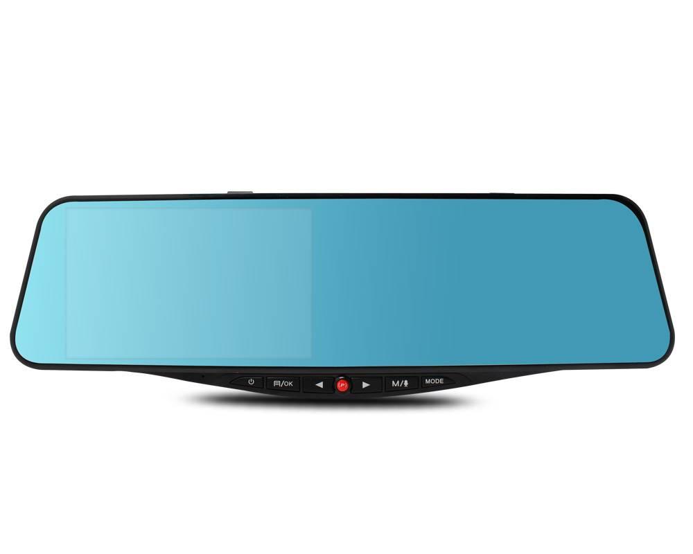 SIV M8 5.0Inch Rearview Mirror Dual Lens Novatek 96655 + AR0330/ Waterproof Lens with GPS Module (Op