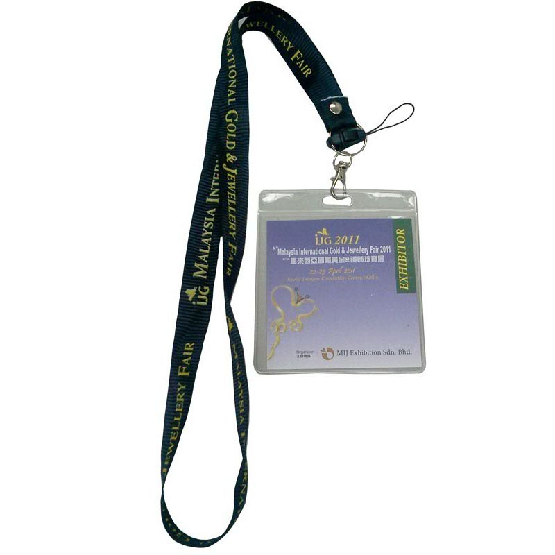 ID Card Holder custom printed Lanyards with PVC badge holder For Exhibition and Trade Show