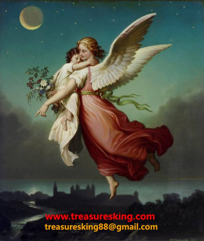 Canvas Oil painting 100% hand painter Angel