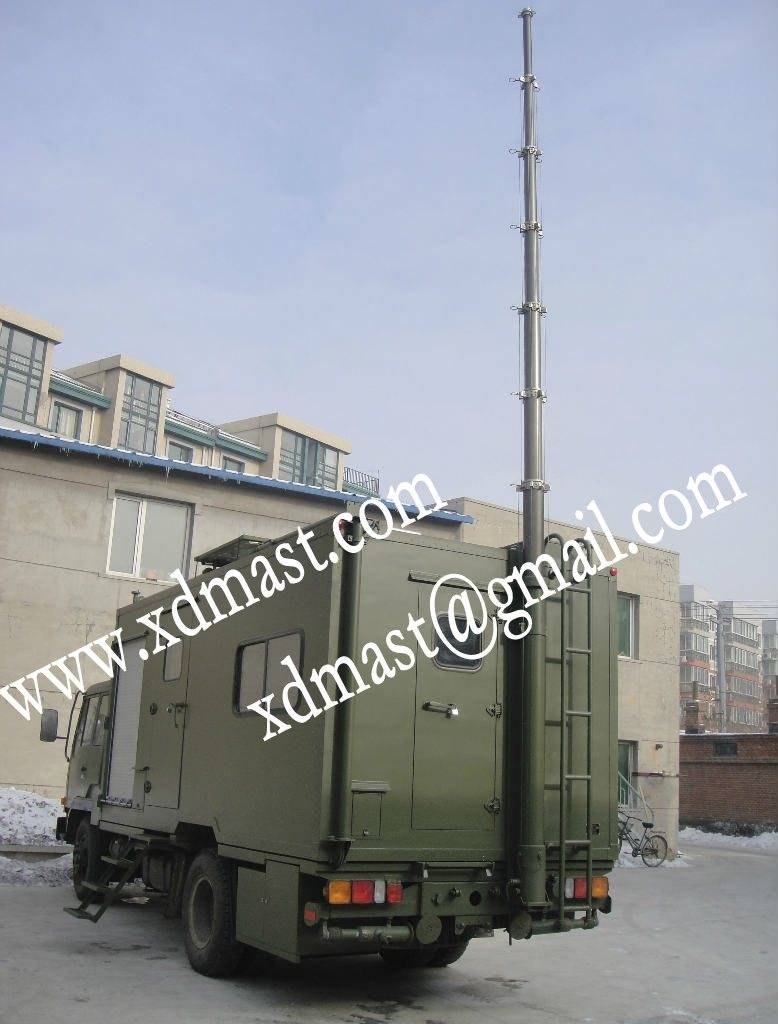 Vertical Mounted Antenna Telescoping Masts & Telescoping Lighting Masts & Pneumatic Telescopic Masts