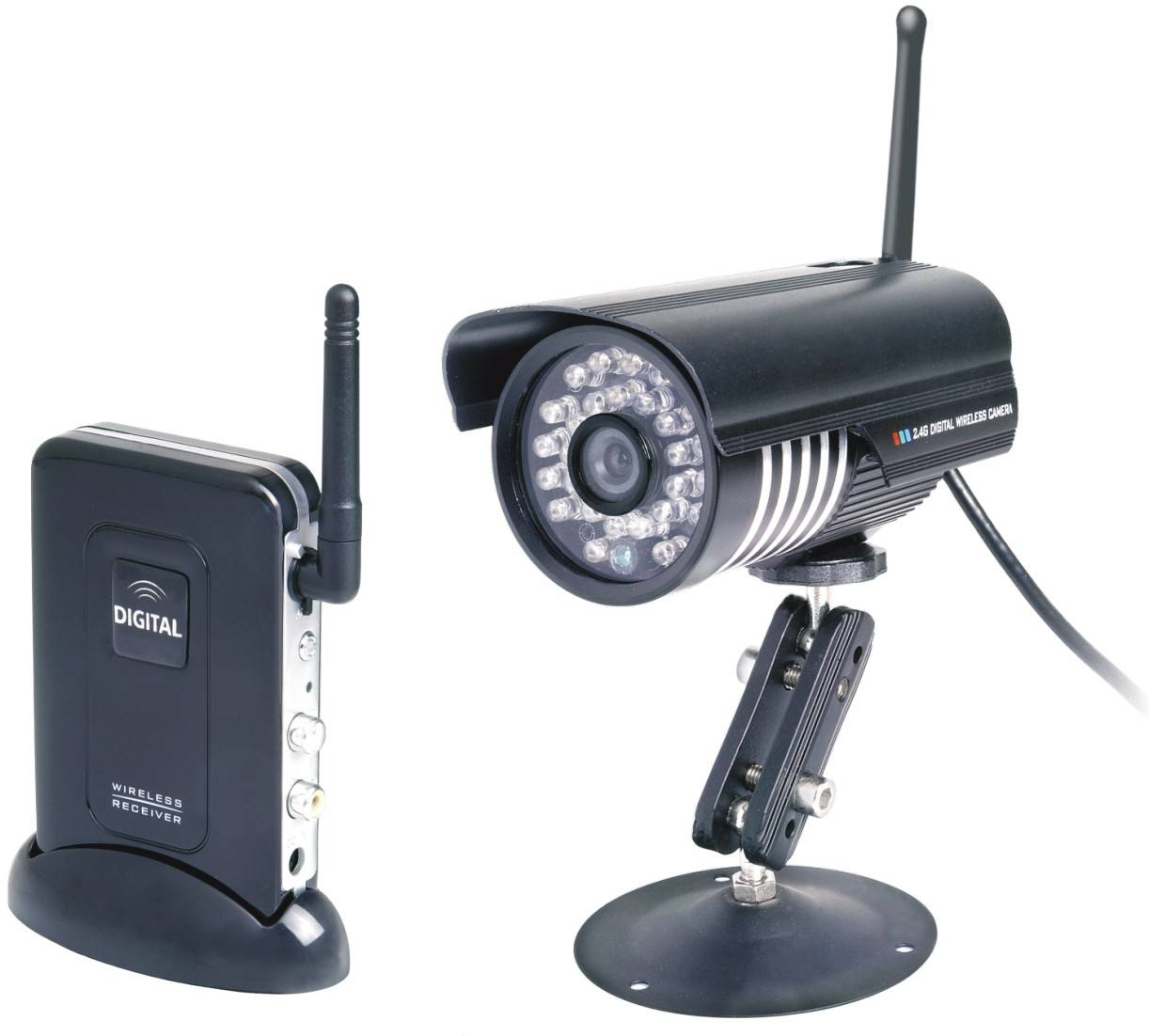 2.4Ghz Connect DVR To Record Waterproof IR Digital Wireless Security Camera System