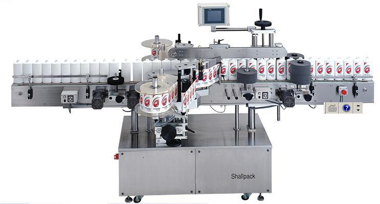 Automatic Double Sides +Round Bottle self adhesive sticker Labeling Machine SL-5228_Shallpack