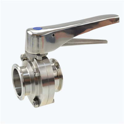 Stainless Steel Sanitary clamp type Butterfly Valve