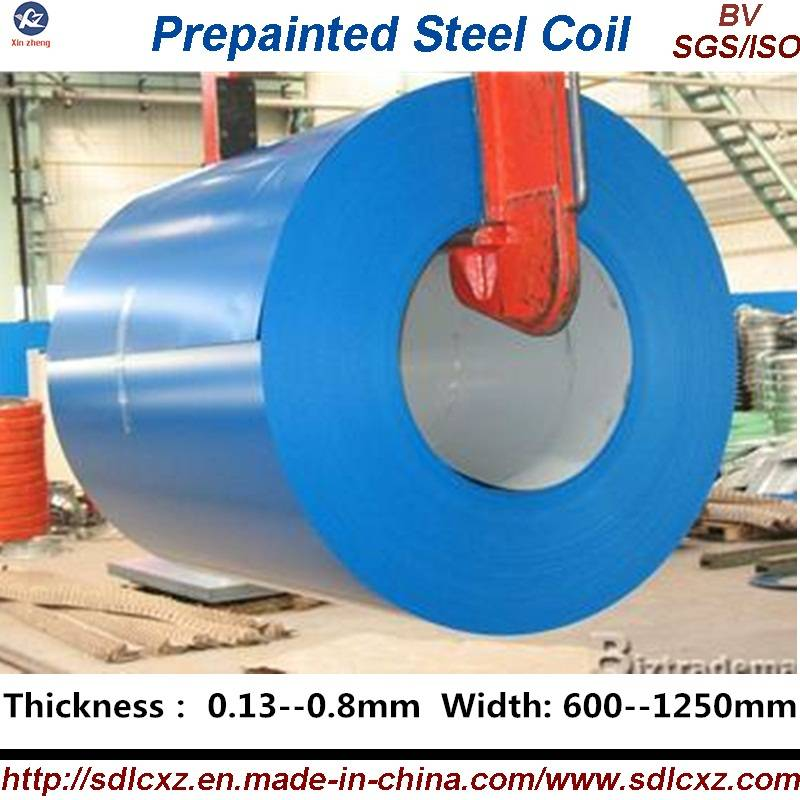 Color Coated Galvanized Steel Coil / PPGI ( 0.14--1.3MM)