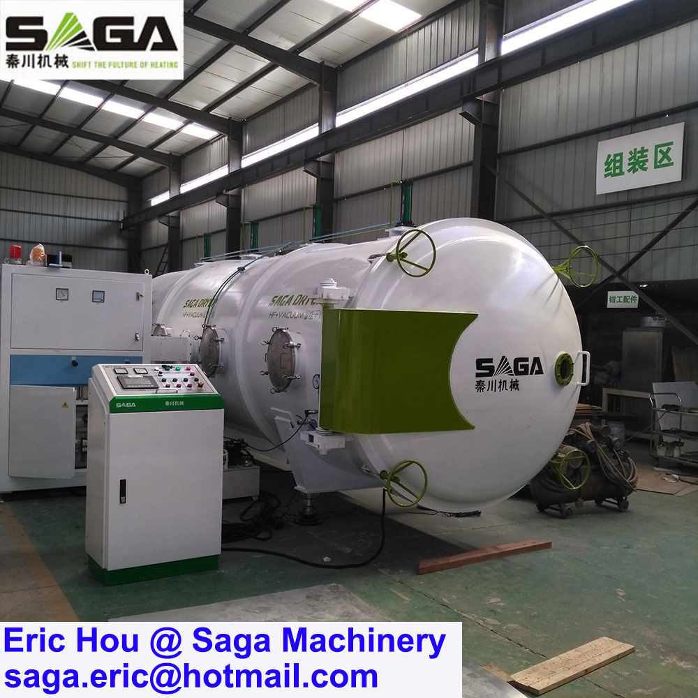 Microwave Vacuum Wood Drying Machine High Frequency Lumber Dryer Kiln