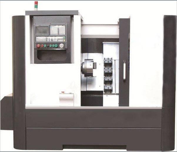 Cnc2525 Slant Bed Horizontal Cnc Lathe Machine / CNC Lathe Machines with Hydraulic Chuck
