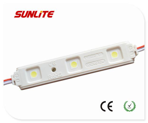 3-led injection led module/ 12V led module/ 0.72w smd led module