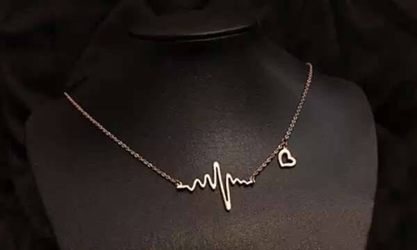 The New 925 Silver Plated with 18 K Gold Han Edition ECG Necklace Fashion Jewelry