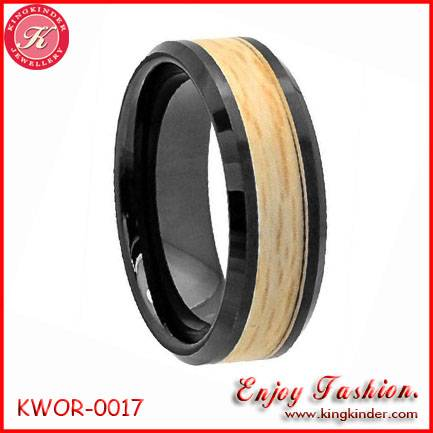 Black Ceramic, Genuine Natural Wood Ring, Wedding Ceramic Ring, Couple Ring, Wood Jewelry Wholesale