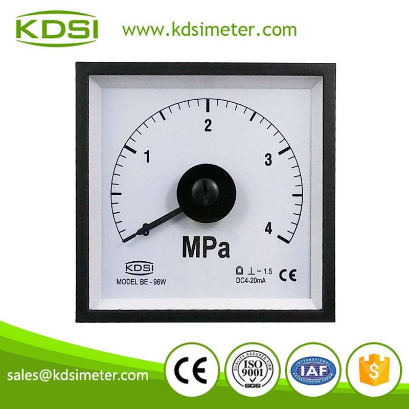 20 Years Manufacturing Experience BE-96W DC4-20mA 4Mpa current pressure meter