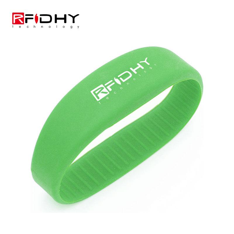 13.56MHz Custom Printing Ntag 216 NFC Silicone Wristband