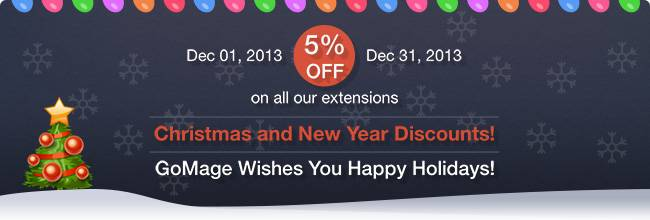 Christmas and New Year Discounts!