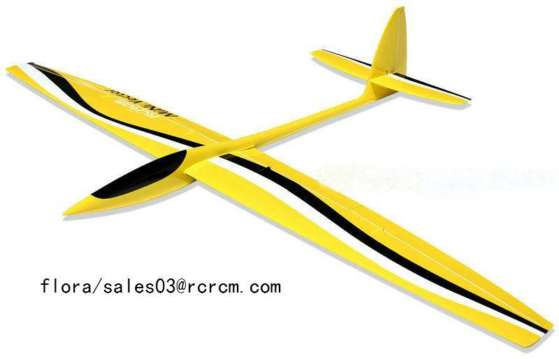 Mini vector-full composite material glider