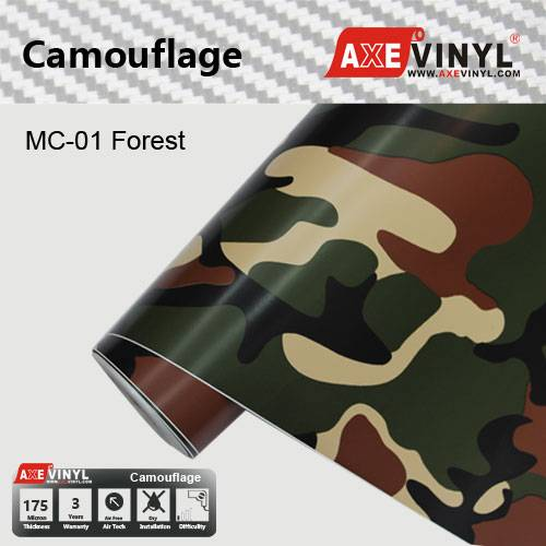Axevinyl Factory Direct Sale Car Wrap Vinyl Premium Quality Forest Camouflage Vinyl Desert Camo Wrap
