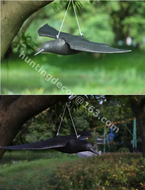 hunting decoy crow plastic garden decoration