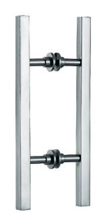 square type push and pull door handles