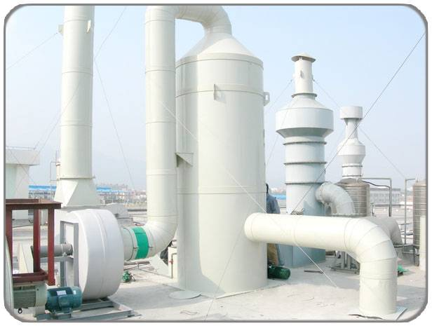 Waste gas purification tower
