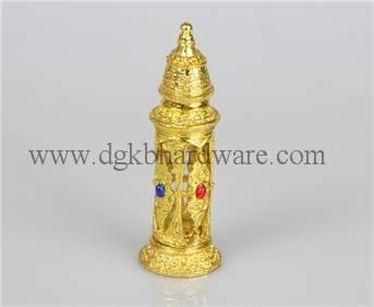 3ml luxurious golden alloy perfume bottle