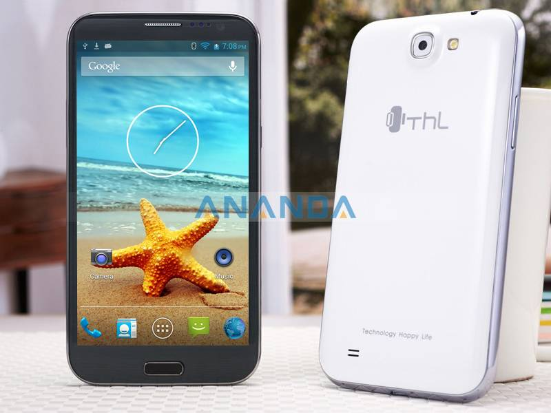5.7 inch MTK6589T Quad Core Android4.2 WCDMA/GSM 3G Dual SIM Mobile phone THL W9