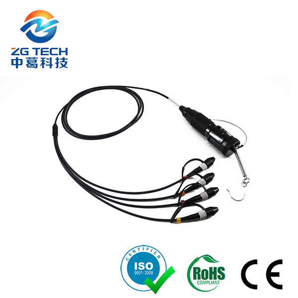 4Core Expanded Beam multichannel hermaphroditic fiber optic patch cord for military tactical communi
