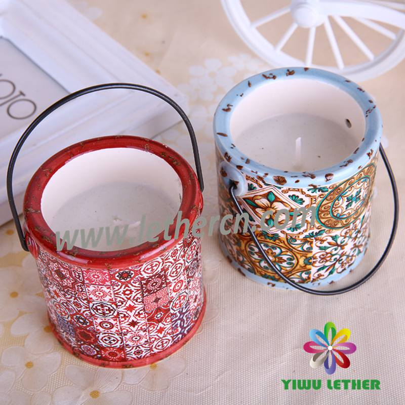 Customized Scented Ceramic Jar Candles with Hanger 6PCS/Gift Box