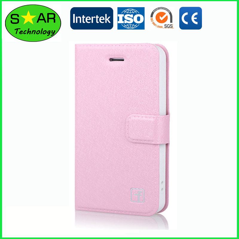 PU Leather Wallet Flip Mobile Phone Case For i phone