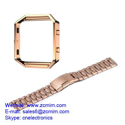 Stainless Steel Watch Band Wrist Strap Bracelet + Metal Frame machining