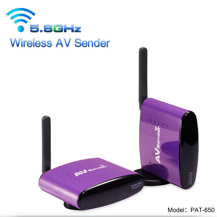PAKITE 5.8GHz 300 Meter Wireless Transmitter for CCTV Camera & all rca/av port device PAT-650