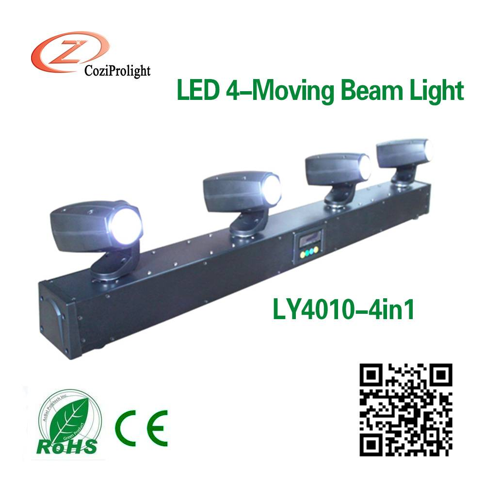 4*10W 4in1/White Led Mini Moving Beam Effect light Stage Light