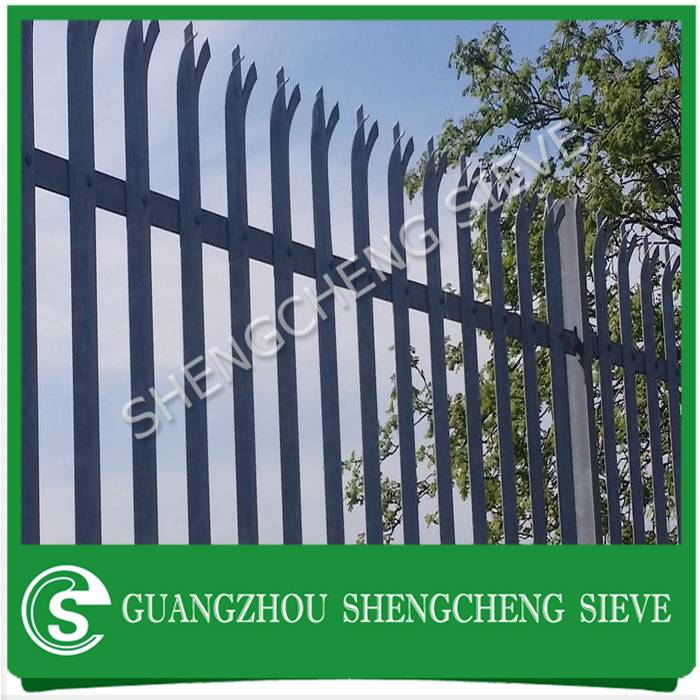 High securiy W D section type ultra steel palisade fence