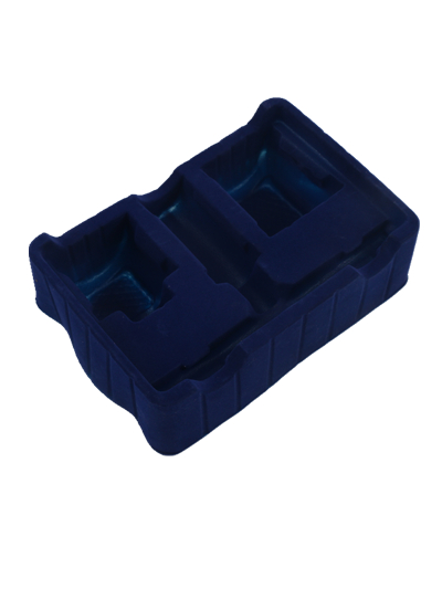 Custom Size Blue Blister Flocking Plastic Packaging Box for Cosmetics