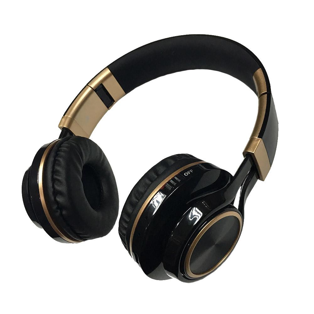 Gold ring kids comfortable cute stereo metallic bluetooth headset