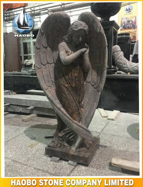 Granite Angel Shape Carving Hand Carved