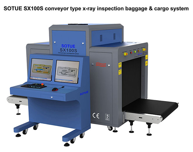 Big tunnel type x-ray baggage scanner, x-ray inspection machine