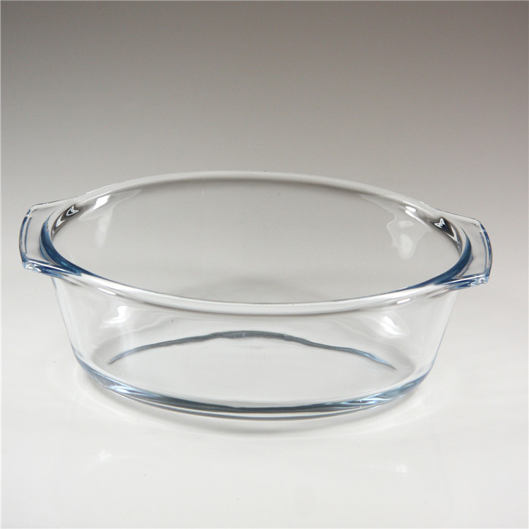 high borosilicate glass casserole