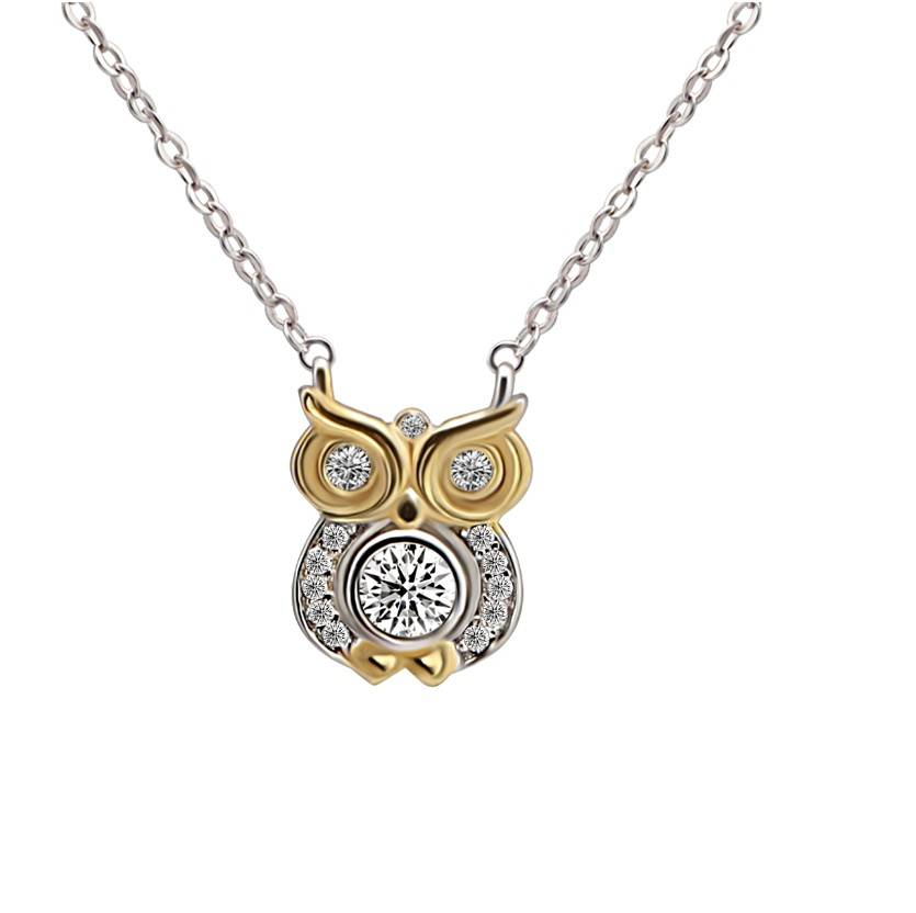 925 sterling silver owl pendant with chain necklace fairytale animal theme jewelry manfacturer