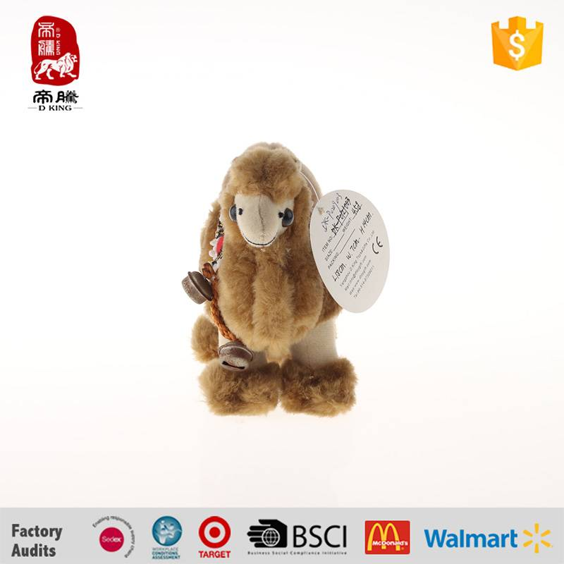 China manufacture plush toys camel with bell