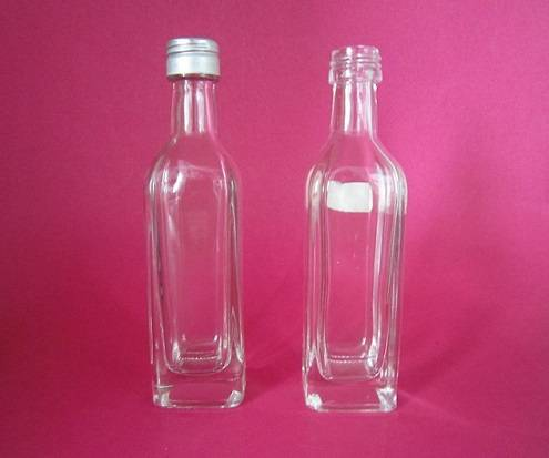 square shape high clear wine glass bottle 50ml