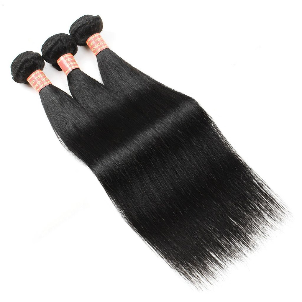 Indian Straight Virgin Human Hair 3 Bundles