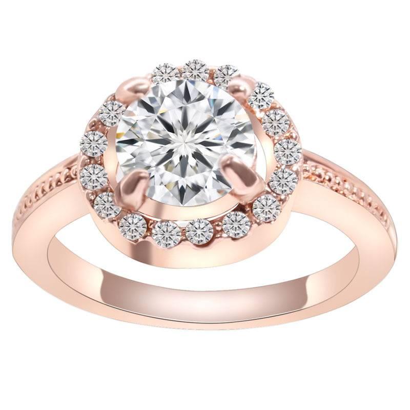 Fashion Gold Zircon Wedding Rings For Women
