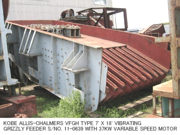 """USED """"KOBE"""" ALLIS-CHALMERS VFGH TYPE 7' X 18' VIBRATING GRIZZLY FEEDER S/NO. 11-0639"""