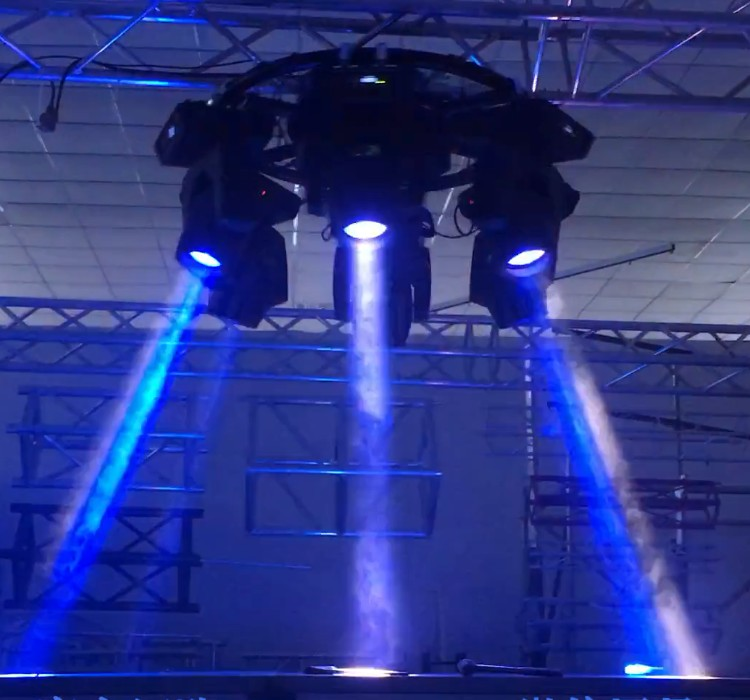china truss system motors DMX512 rotary circle truss for hanging moving head light swing