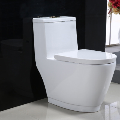 Water saving one piece western bathroom toilet