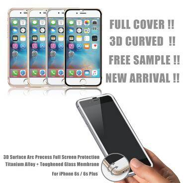 2015 New Product,3D Full Cover Carbon fiber tempered glass screen protector for iphone 6 with Wholes