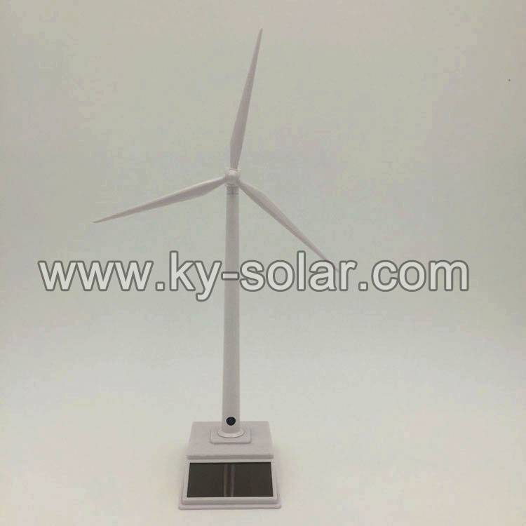 Best selling white paint plastic windmill toy solar windmill as gift