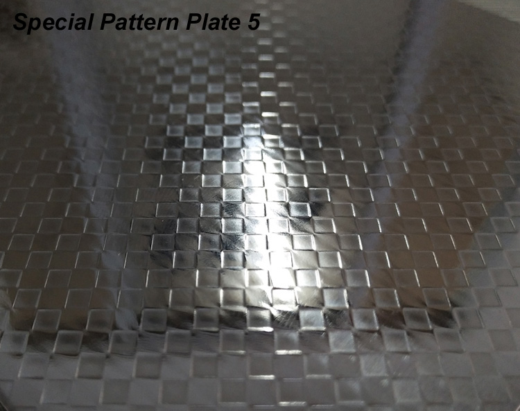 Patterned/textured Card Lamination Steel Plate MSP-P