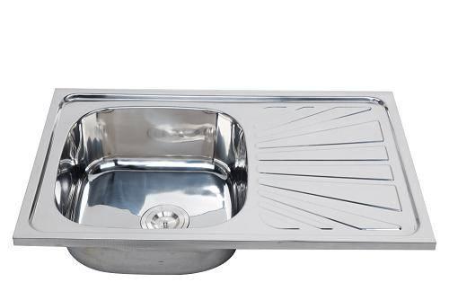 Foshan manufacturer standard topmount kitchen sink with drainboard WY-8050SB